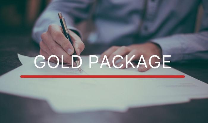 gold package centro de leilões