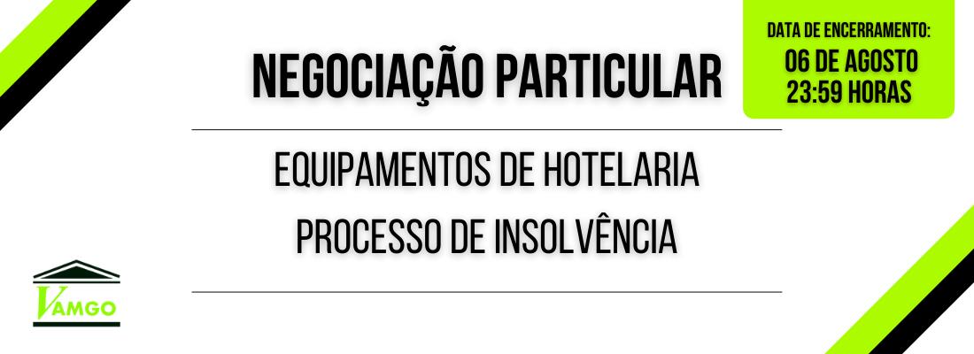 Negociação Particular de Equipamentos de Hotelaria
