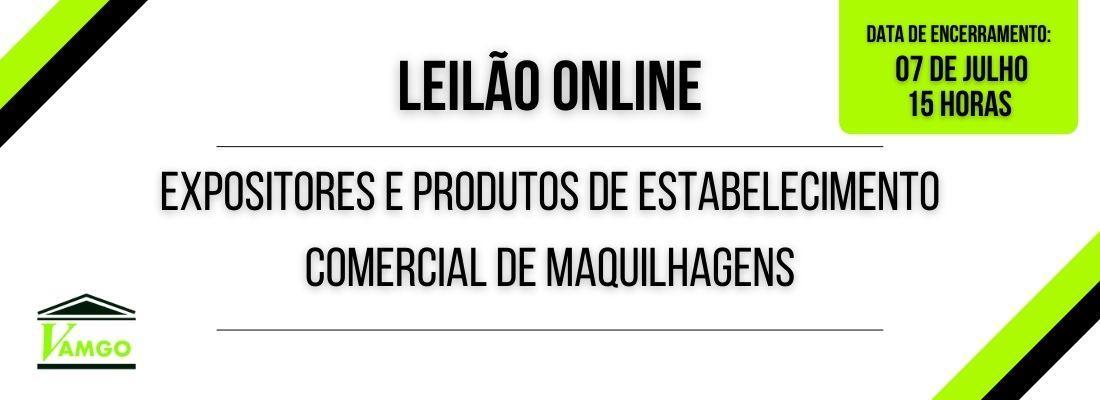 Leilão Online de Expositores e Produtos de Estabelecimento Comercial de Maquilhagens
